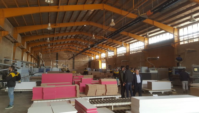 گرمایش سوله صنعتی شرکت ساحا چوب