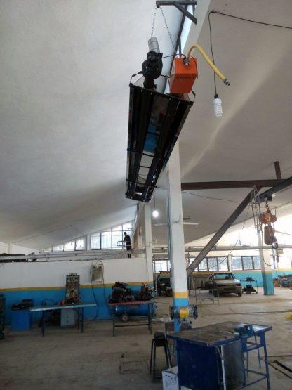 گرمایش تابشی فضای داخلی تعمیرگاه